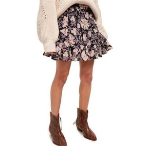 Free People End Of The Island Floral Mini Skirt